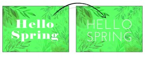 Refresh Your Brand - typography hello spring